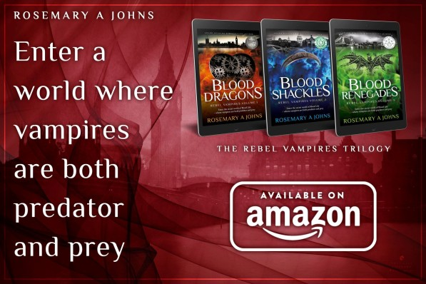 Rebel Vampires fantasy book series - Rosemary A Johns