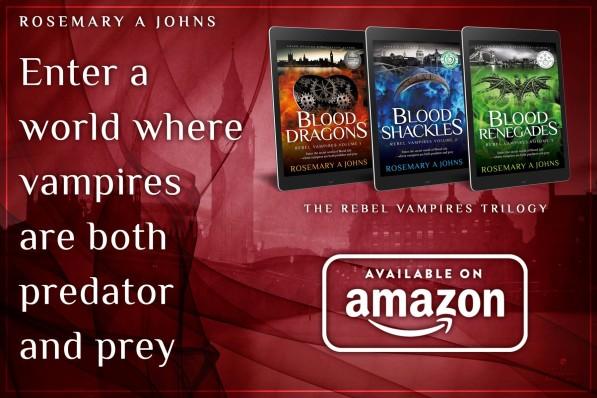 Rebel Vampires fantasy book series - Rosemary A Johns