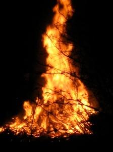 bonfire-lit
