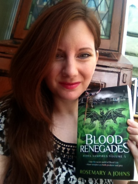 Author Rosemary A Johns and Rebel Vampires Blood Renegades